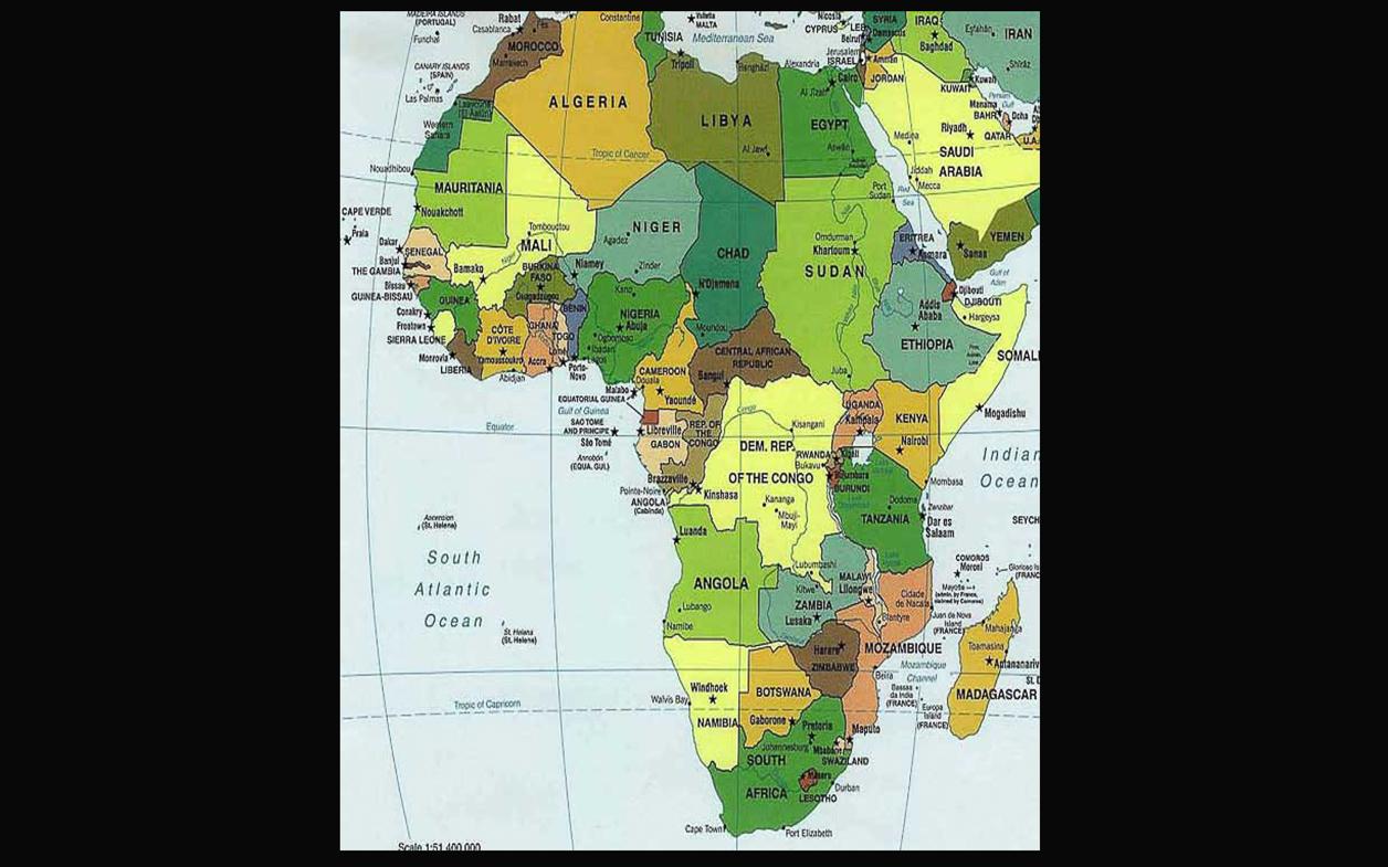 Map – Africa South of Sahara